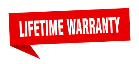 lifetime warranty speech bubble. lifetime warranty sign. lifetime warranty banner Stock Vector - 125694831