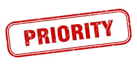 pieczęć pierwszeństwa. kwadratowy znak priorytetu. priorytet Ilustracje wektorowe