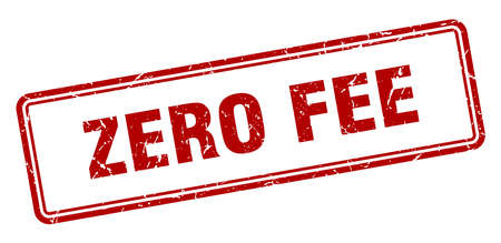 zero fee stamp. zero fee square grunge sign. zero fee 일러스트