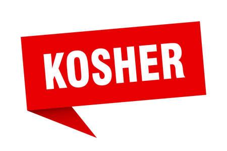 kosher speech bubble. kosher sign. kosher banner