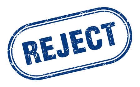 reject stamp. reject square grunge sign. reject Vektoros illusztráció