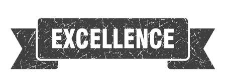 excellence grunge ribbon. excellence sign. excellence banner Çizim