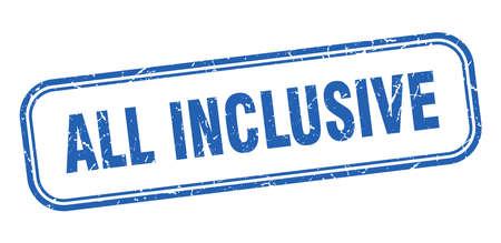 all inclusive stamp. all inclusive square grunge sign. all inclusive