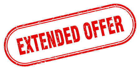 extended offer stamp. extended offer square grunge sign. extended offer Illustration