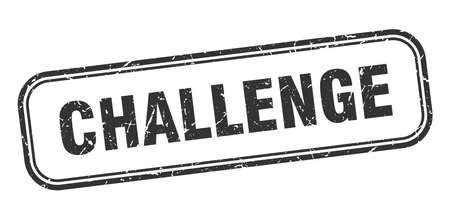 challenge stamp. challenge square grunge sign. challenge 向量圖像