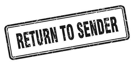 return to sender stamp. return to sender square grunge sign. return to sender Stockfoto - 126047124
