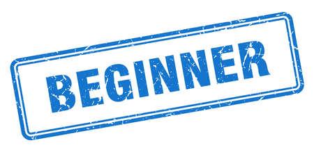 beginner stamp. beginner square grunge sign. beginner Ilustrace