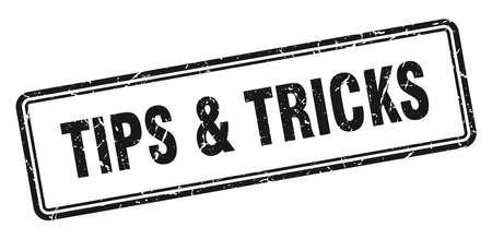 tips & tricks stamp. tips & tricks square grunge sign. tips & tricks