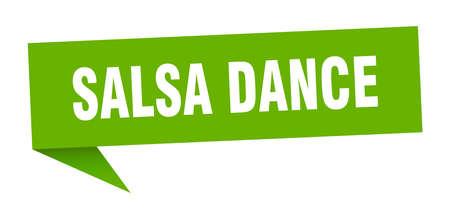 salsa dance speech bubble. salsa dance sign. salsa dance banner