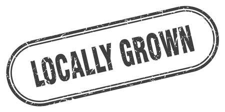 locally grown stamp. locally grown square grunge sign. locally grown Ilustração