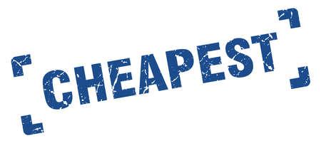 cheapest stamp. cheapest square grunge sign. cheapest Reklamní fotografie - 126080245