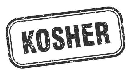 kosher stamp. kosher square grunge sign. kosher
