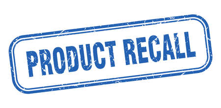 product recall stamp. product recall square grunge sign. product recall Çizim