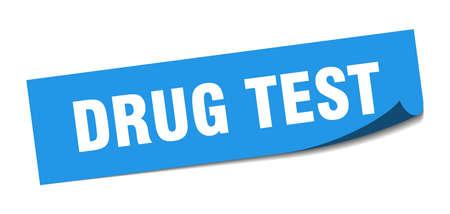 drug test sticker. drug test square isolated sign. drug test