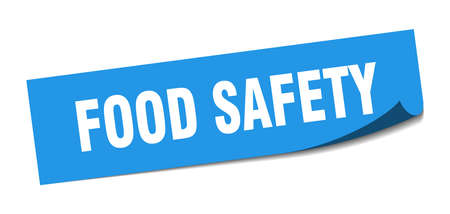 food safety sticker. food safety square isolated sign. food safety