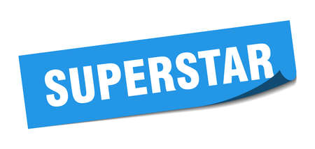 superstar sticker. superstar square isolated sign. superstar