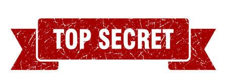 top secret grunge ribbon. top secret sign. top secret banner