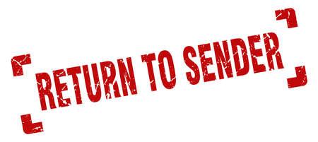 return to sender stamp. return to sender square grunge sign. return to sender Stockfoto - 126141944