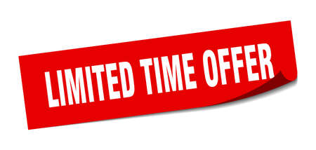 limited time offer sticker. limited time offer square isolated sign. limited time offer