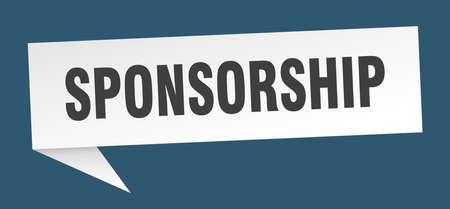 sponsorship speech bubble. sponsorship sign. sponsorship banner