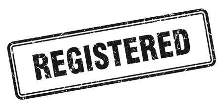 registered stamp. registered square grunge sign. registered 向量圖像