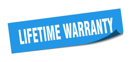 lifetime warranty sticker. lifetime warranty square isolated sign. lifetime warranty