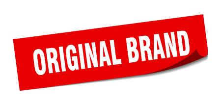 original brand sticker. original brand square isolated sign. original brand