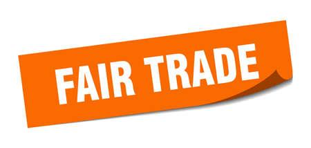 fair trade sticker. fair trade square isolated sign. fair trade Vettoriali