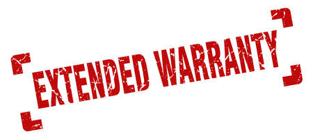 extended warranty stamp. extended warranty square grunge sign. extended warranty