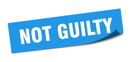 not guilty sticker. not guilty square isolated sign. not guilty  イラスト・ベクター素材