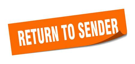 return to sender sticker. return to sender square isolated sign. return to sender Stockfoto - 126502622