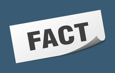 fact sticker. fact square isolated sign. fact Illustration