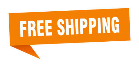 free shipping speech bubble. free shipping sign. free shipping banner