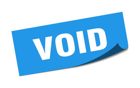 void sticker. void square isolated sign. void Ilustrace