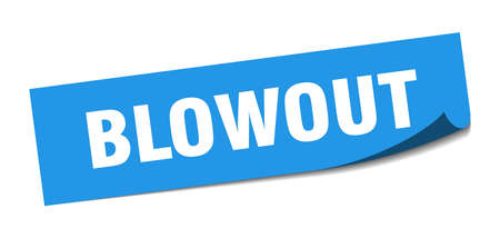 blowout sticker. blowout square isolated sign. blowout Illustration