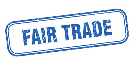 fair trade stamp. fair trade square grunge sign. fair trade Vektorgrafik