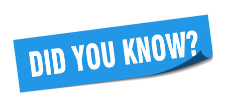 did you know sticker. did you know square isolated sign. did you know Illustration
