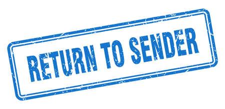 return to sender stamp. return to sender square grunge sign. return to sender Stockfoto - 126511695