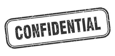 cachet confidentiel. signe grunge carré confidentiel. confidentiel Vecteurs
