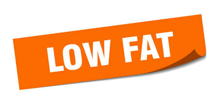 low fat sticker. low fat square isolated sign. low fat 矢量图像