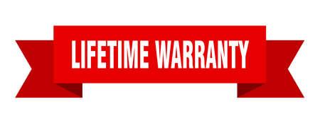 lifetime warranty ribbon. lifetime warranty isolated sign. lifetime warranty banner Illustration