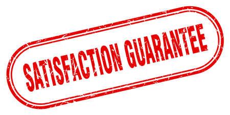satisfaction guarantee stamp. satisfaction guarantee square grunge sign. satisfaction guarantee Illustration
