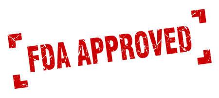 fda approved stamp. fda approved square grunge sign. fda approved