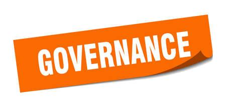 governance sticker. governance square isolated sign. governance