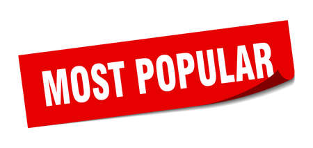 most popular sticker. most popular square isolated sign. most popular