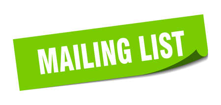 mailing list sticker. mailing list square isolated sign. mailing list Illusztráció