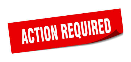 action required sticker. action required square isolated sign. action required