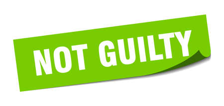 not guilty sticker. not guilty square isolated sign. not guilty
