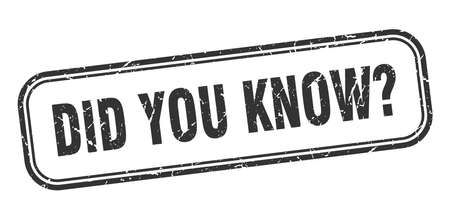 did you know stamp. did you know square grunge sign. did you know Stock fotó - 126531432