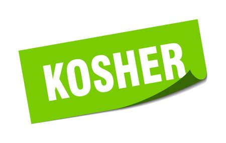 kosher sticker. kosher square isolated sign. kosher